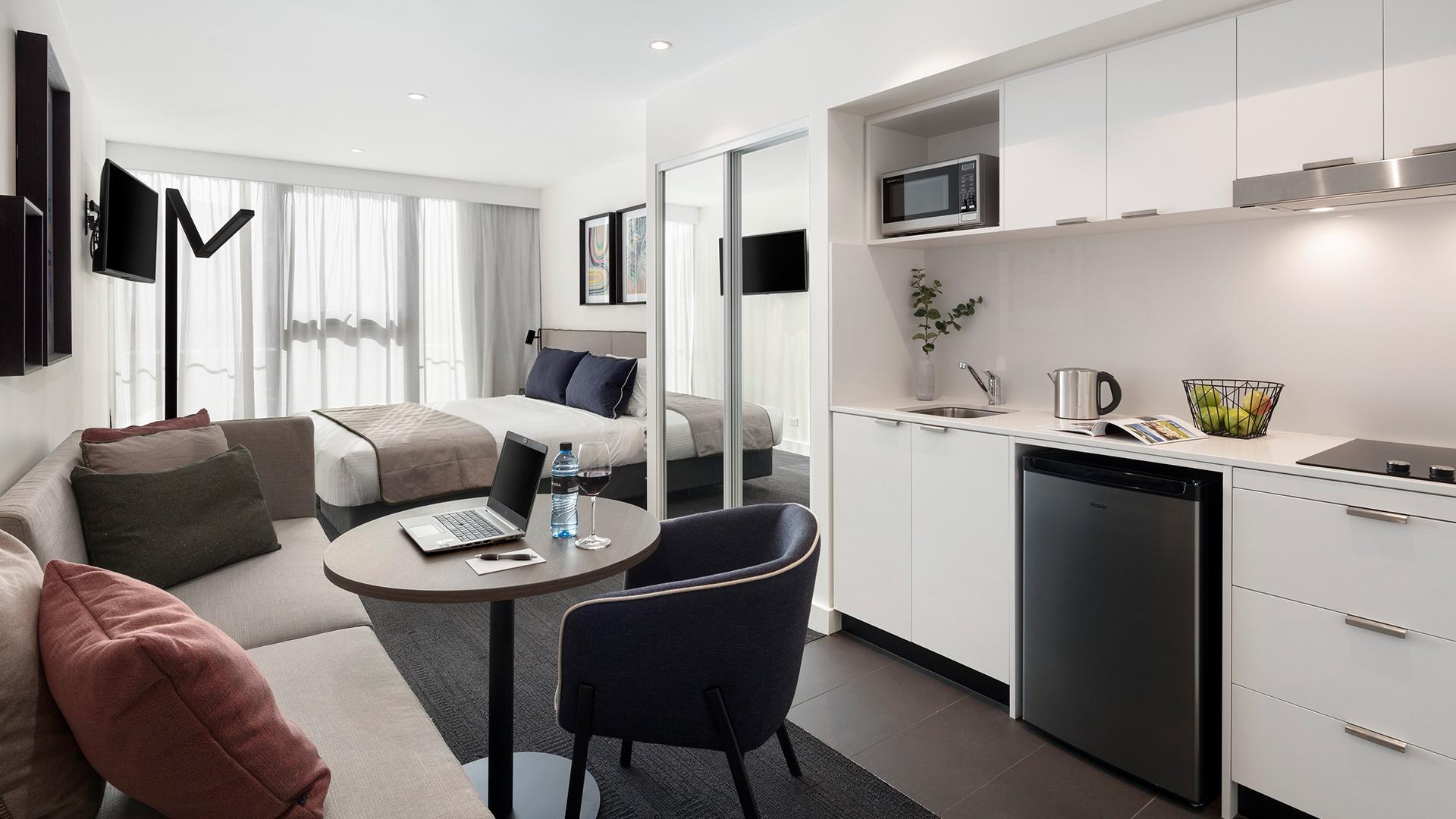 Studio Executive Apartment image 1 at Quest St Kilda Road by Port Phillip City, Victoria, Australia