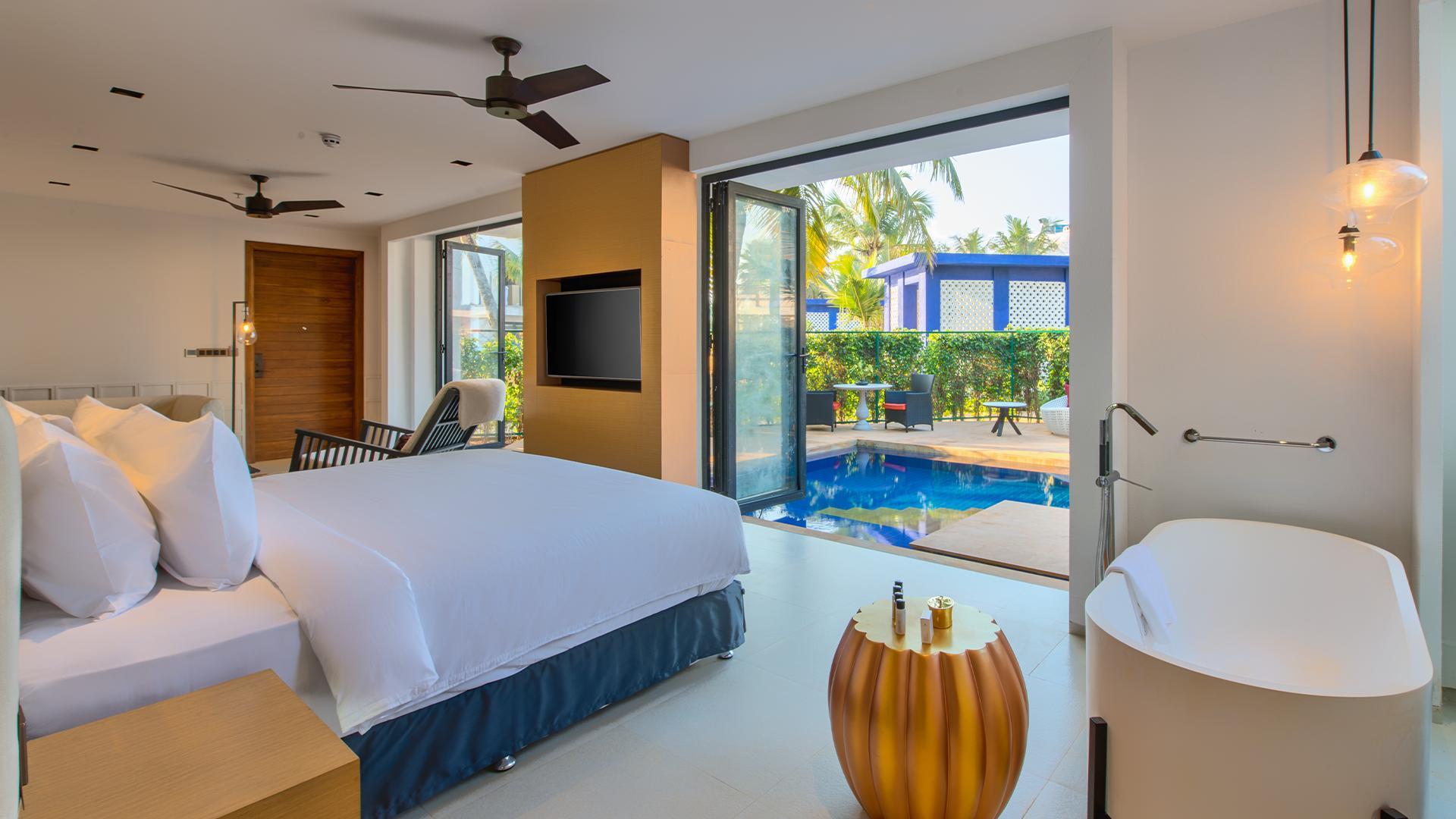 Essence Plunge Pool XL Room image 1 at Azaya Beach Resort by South Goa, Goa, India