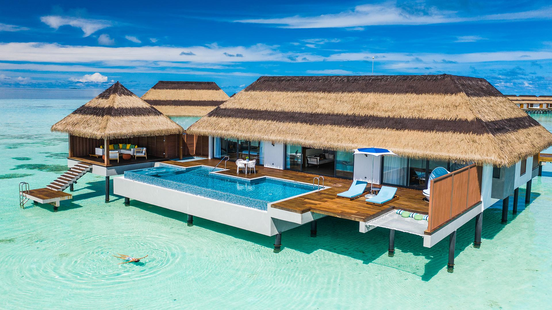 Two-Bedroom Ocean Pool Villa image 1 at Pullman Maldives Maamutaa Resort by null, Upper South Province, Maldives