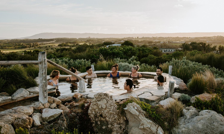 Peninsula Hot Springs' top pool