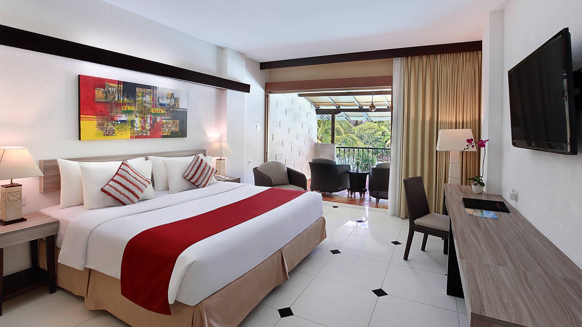 Premier Pool View Room  image 1 at Swiss-Belhotel Segara Nusa Dua by Kabupaten Badung, Bali, Indonesia