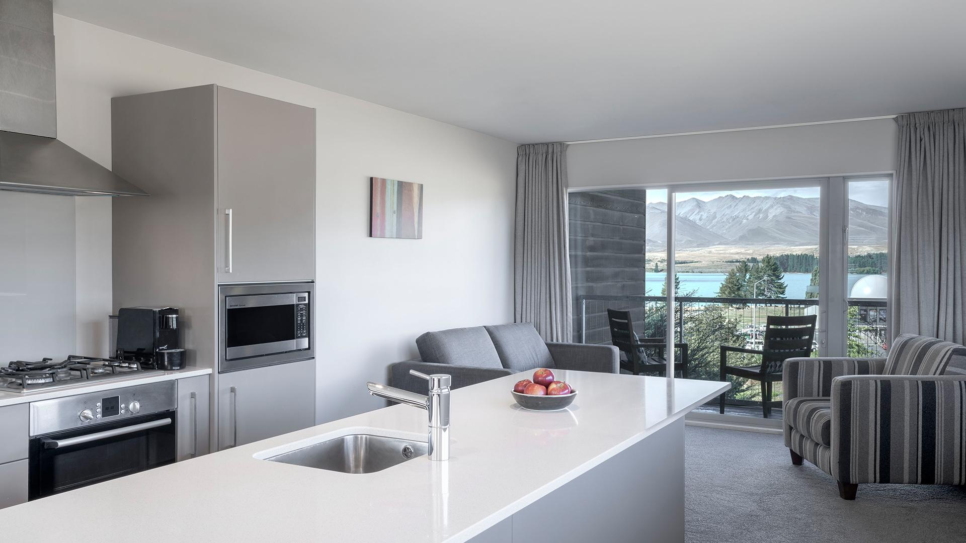 Two-Bedroom Lakeview Suite image 1 at Peppers Bluewater Resort Lake Tekapo by null, Canterbury, New Zealand