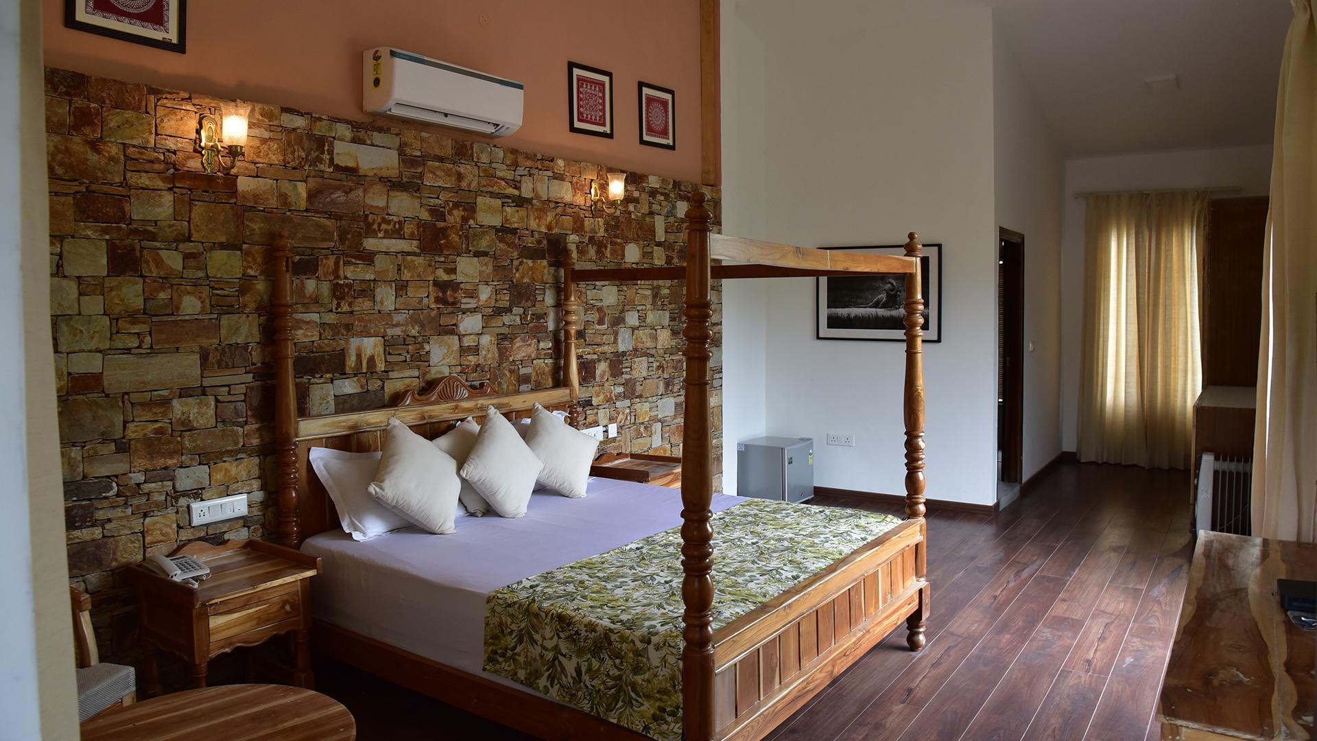 Premium Hideaway Room image 1 at Tree of Life Vanvilas Riveredge, Corbett National Park by Nainital, Uttarakhand, India