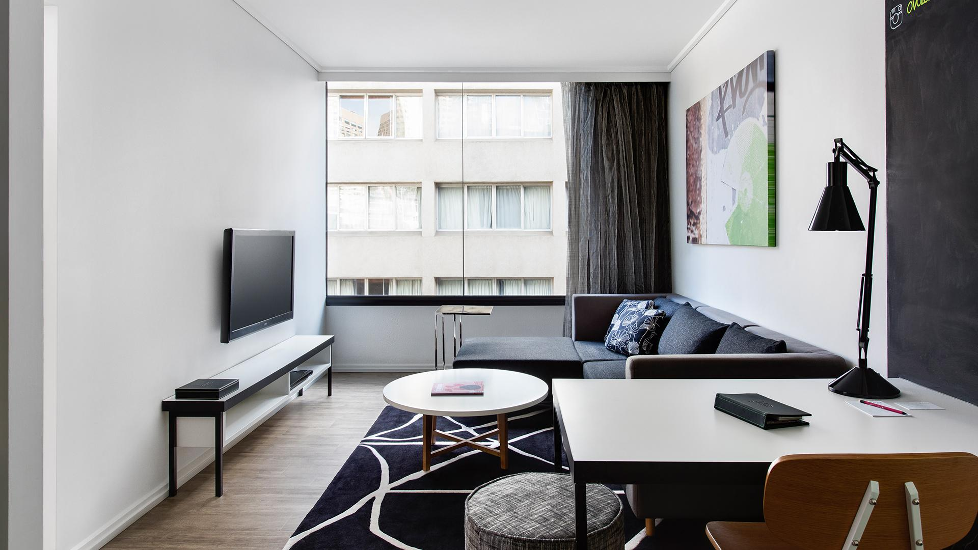 One-Bedroom Suite image 1 at Ovolo Laneways by Melbourne City, Victoria, Australia
