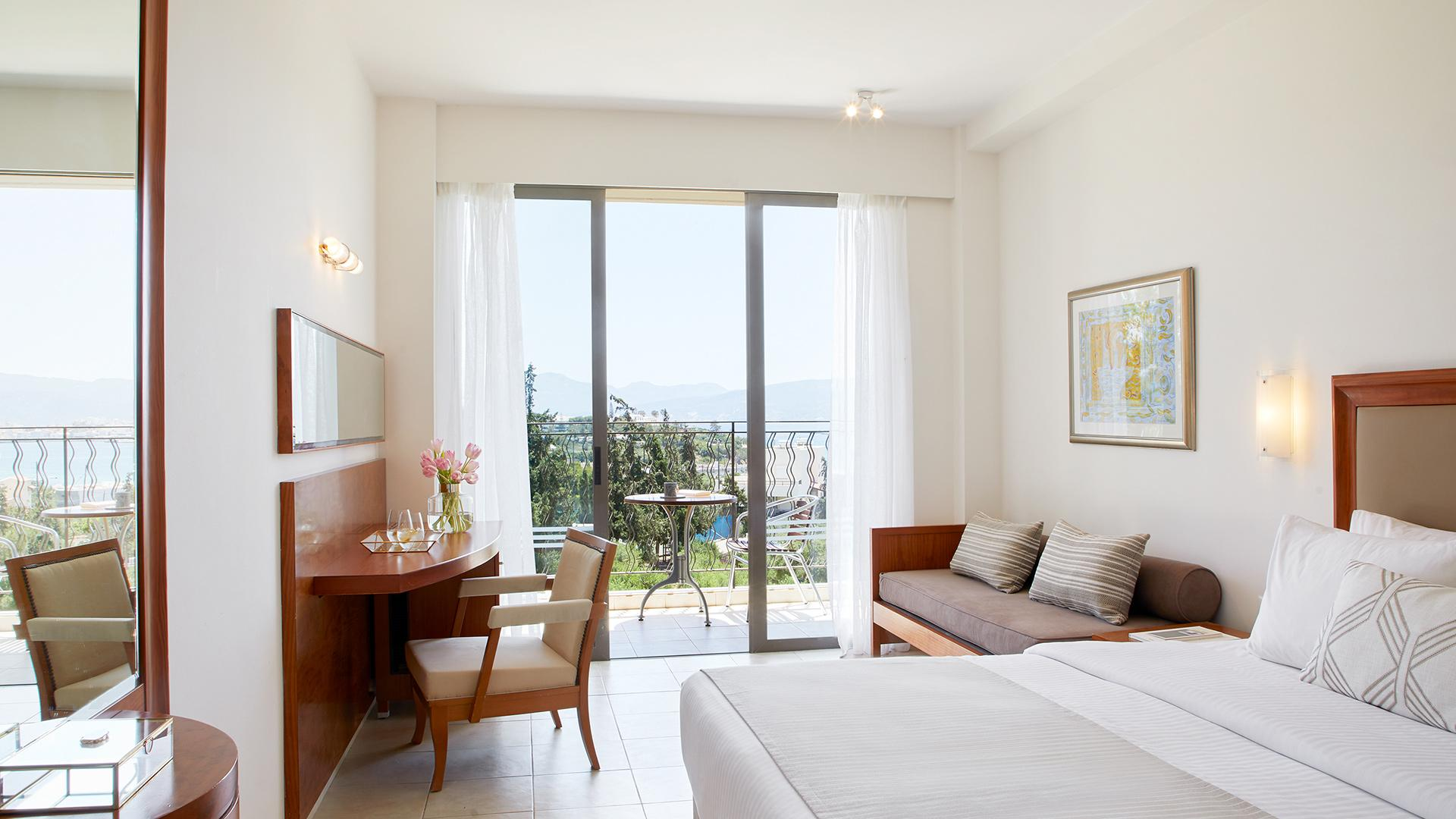 Deluxe Double Room with Garden View image 1 at Wyndham Grand Crete Mirabello Bay by null, null, Greece