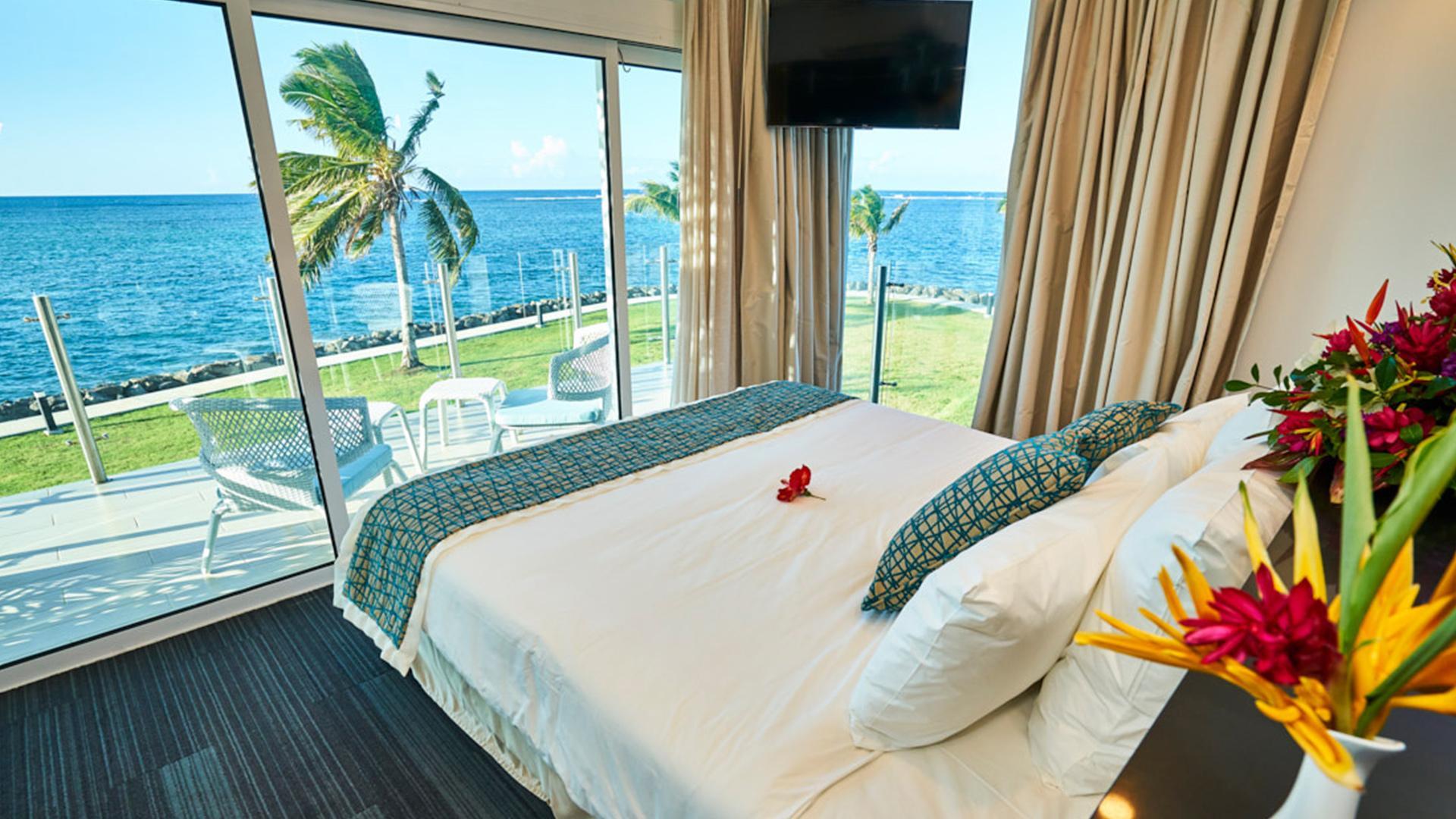 Deluxe Oceanvew King image 1 at Taumeasina Island Resort by null, Tuamasaga, Samoa