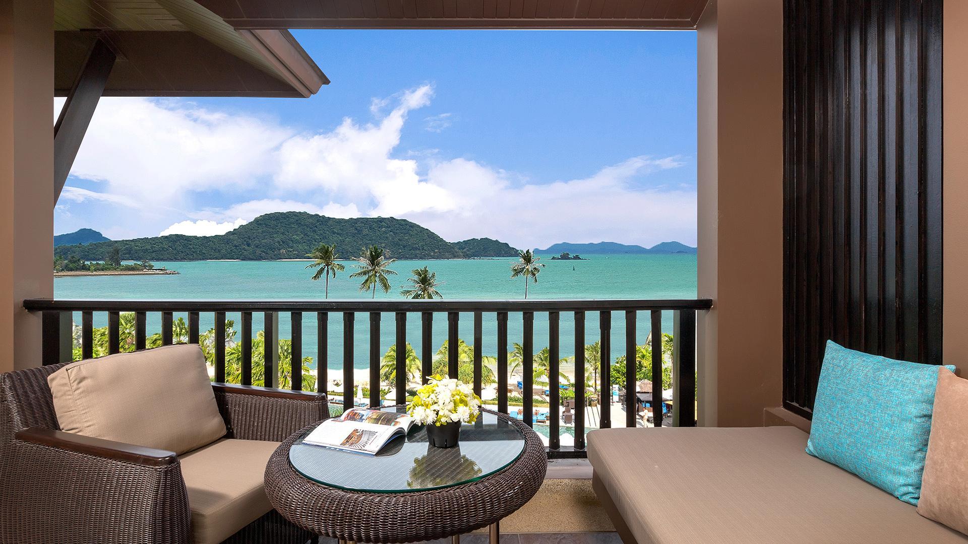 Deluxe Room with Sea View image 1 at Pullman Phuket Panwa Beach Resort by Amphoe Mueang Phuket, Chang Wat Phuket, Thailand