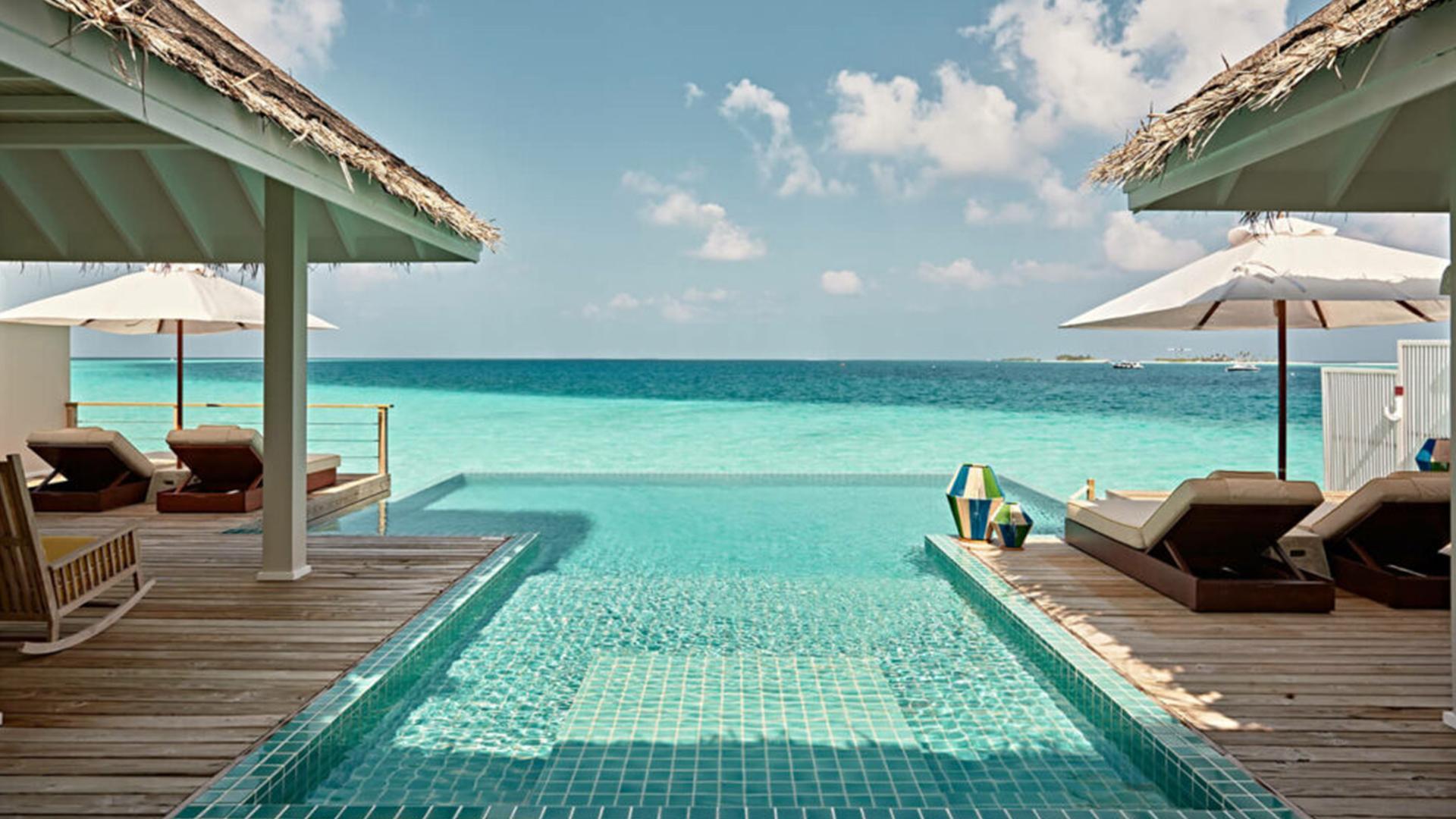 Two-Bedroom Water Villa with Pool image 1 at Seaside Finolhu Maldives by Baa Atoll, North Province, Maldives
