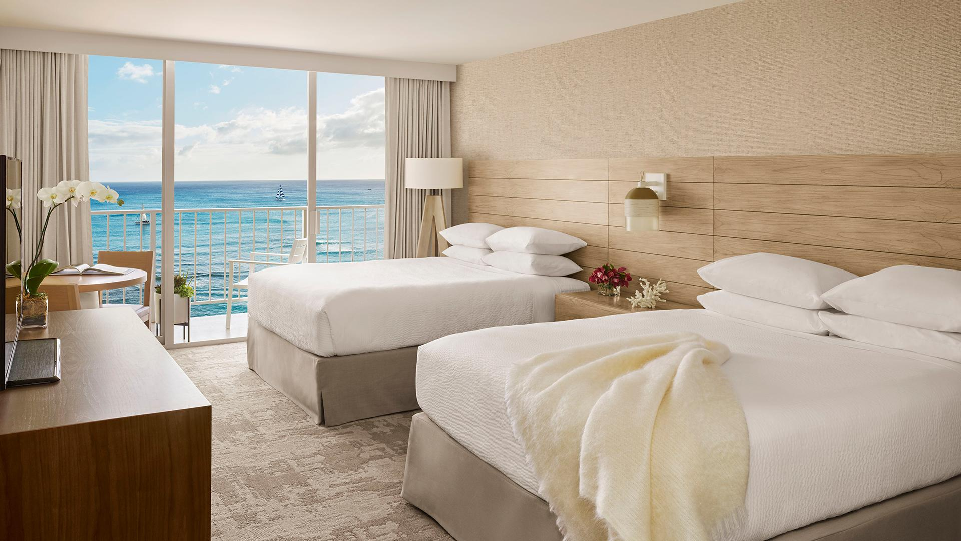 Premier Oceanfront Double Queen image 1 at 'Alohilani Resort Waikiki Beach by Honolulu County, Hawaii, United States