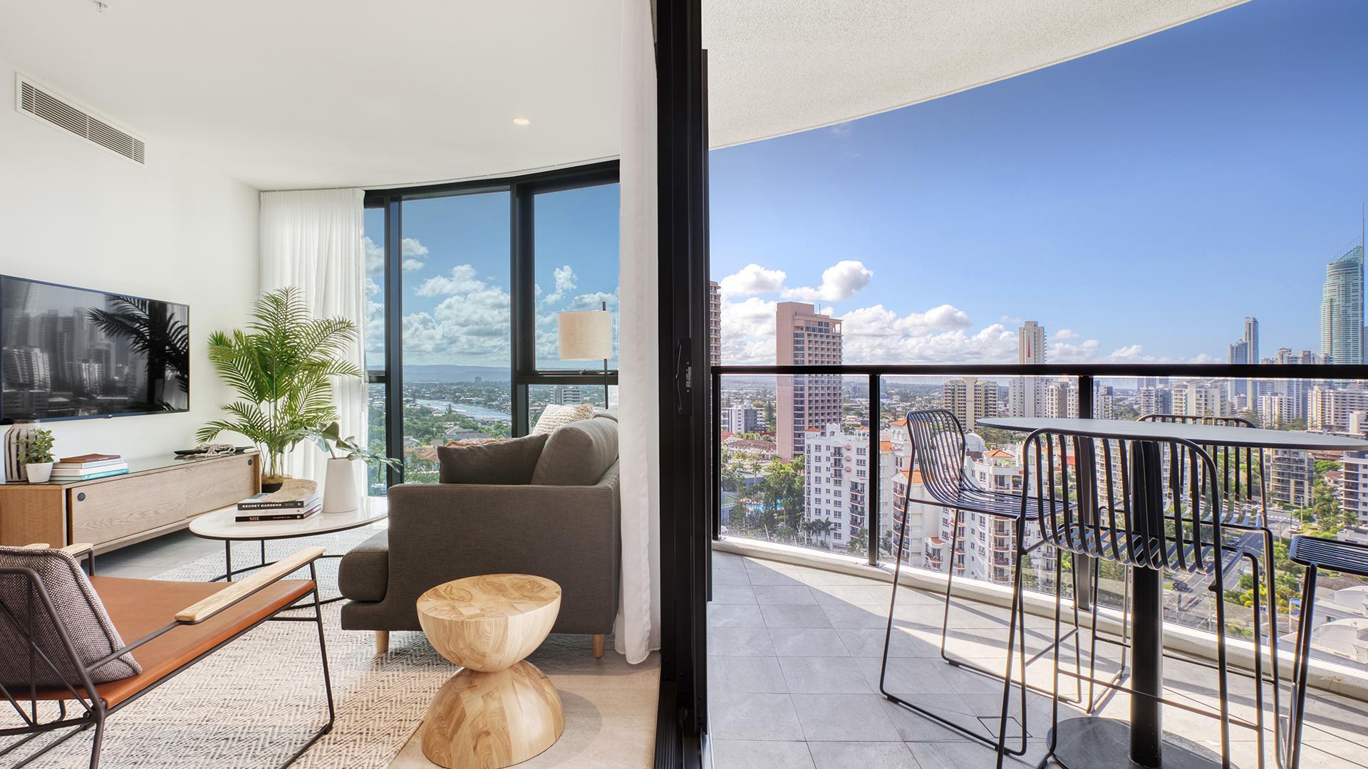 Three-Bedroom Apartment image 1 at Vue Broadbeach by City of Gold Coast, Queensland, Australia