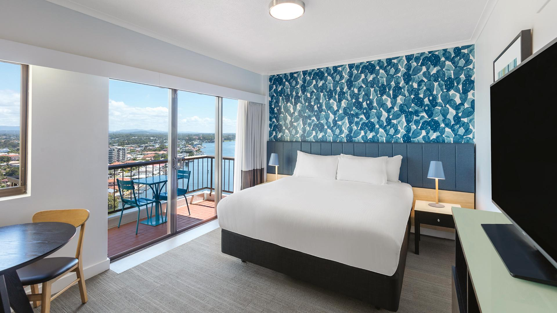 Riverview King Room image 1 at Vibe Hotel Gold Coast by City of Gold Coast, Queensland, Australia