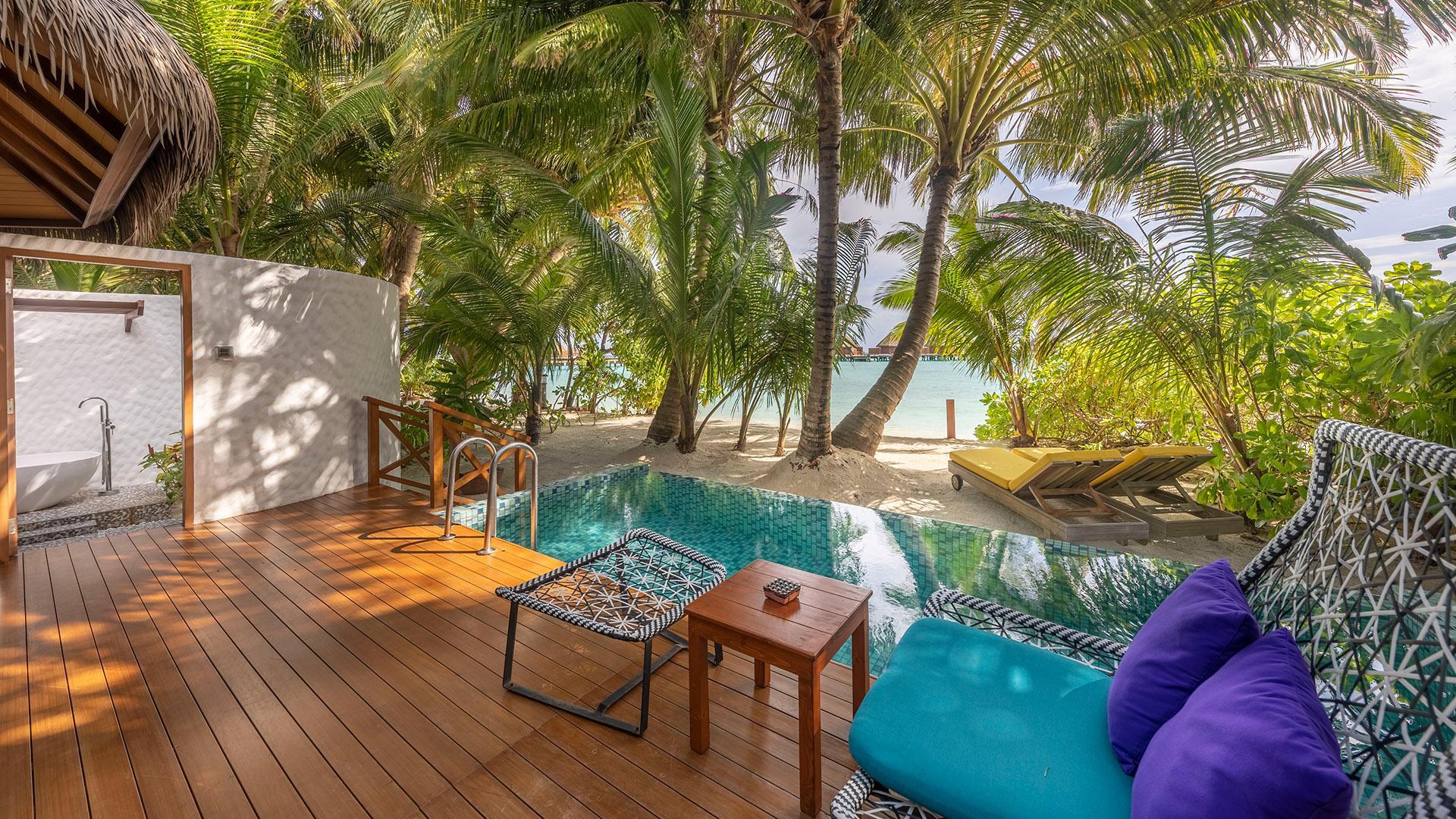 Beach Pool Villa image 1 at Mercure Maldives Kooddoo by Gaafu Alifu Atoll, Upper South Province, Maldives