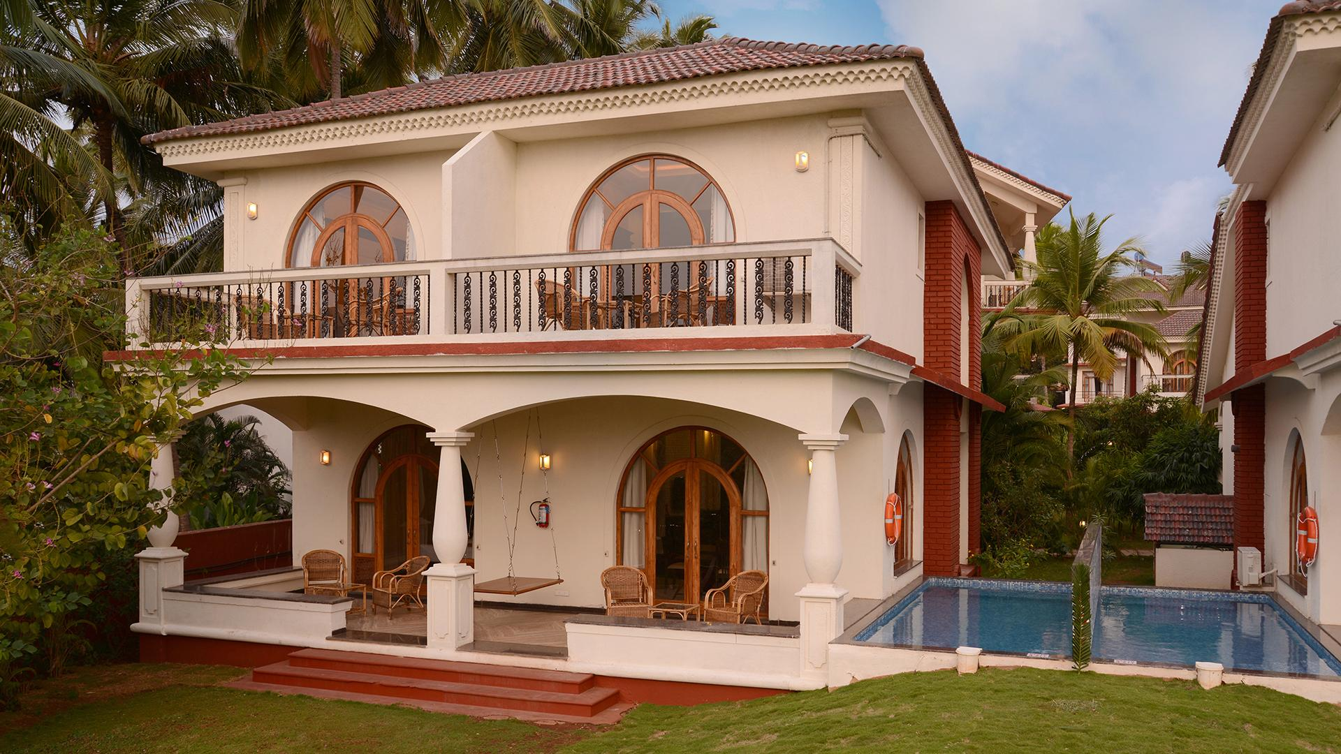 Four Bedroom Villa with Plunge Pool image 1 at Resort Rio by North Goa, Goa, India