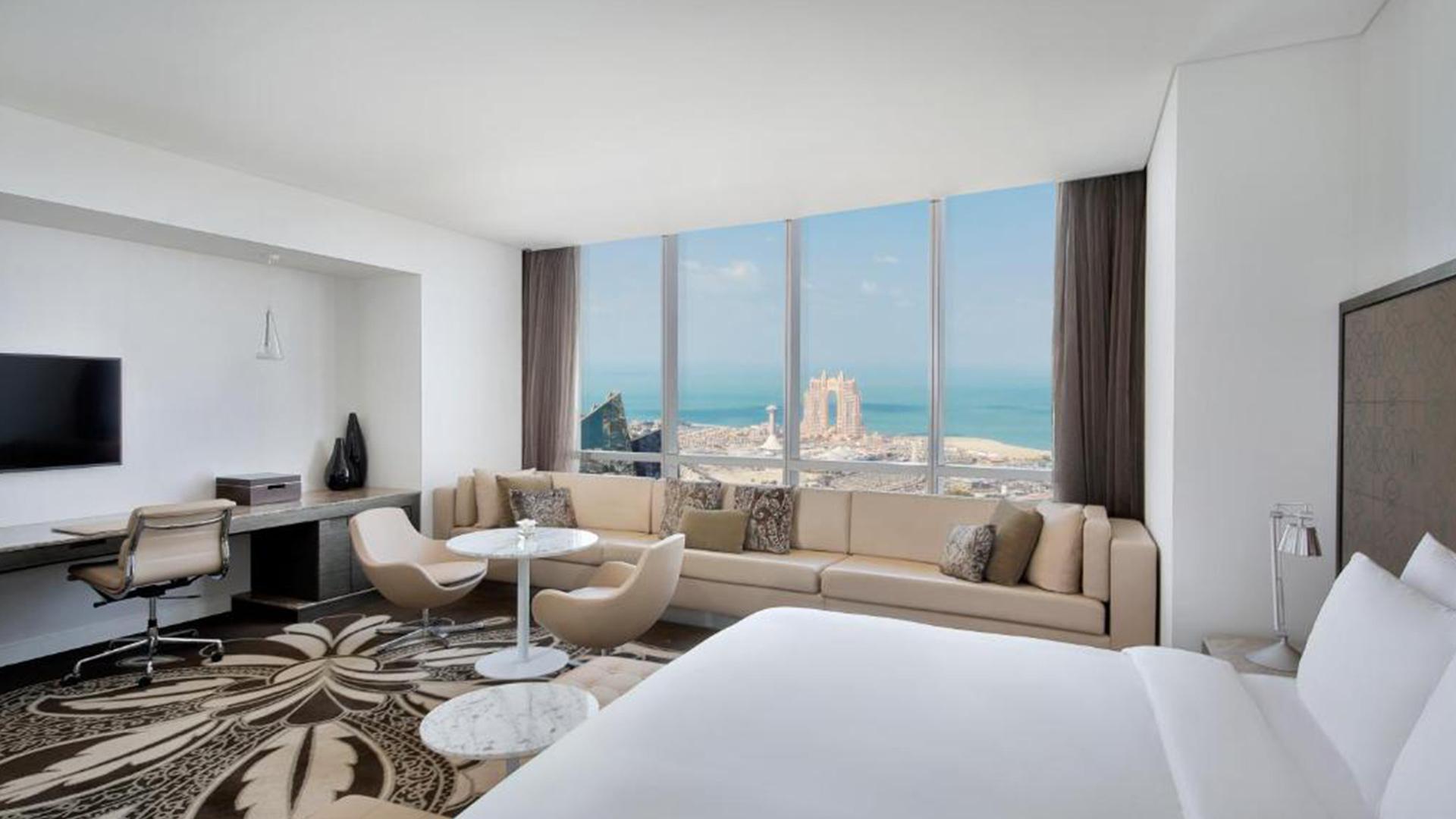 King Junior Suite with Sea View image 1 at Conrad Abu Dhabi Etihad Towers by null, Abu Dhabi, United Arab Emirates