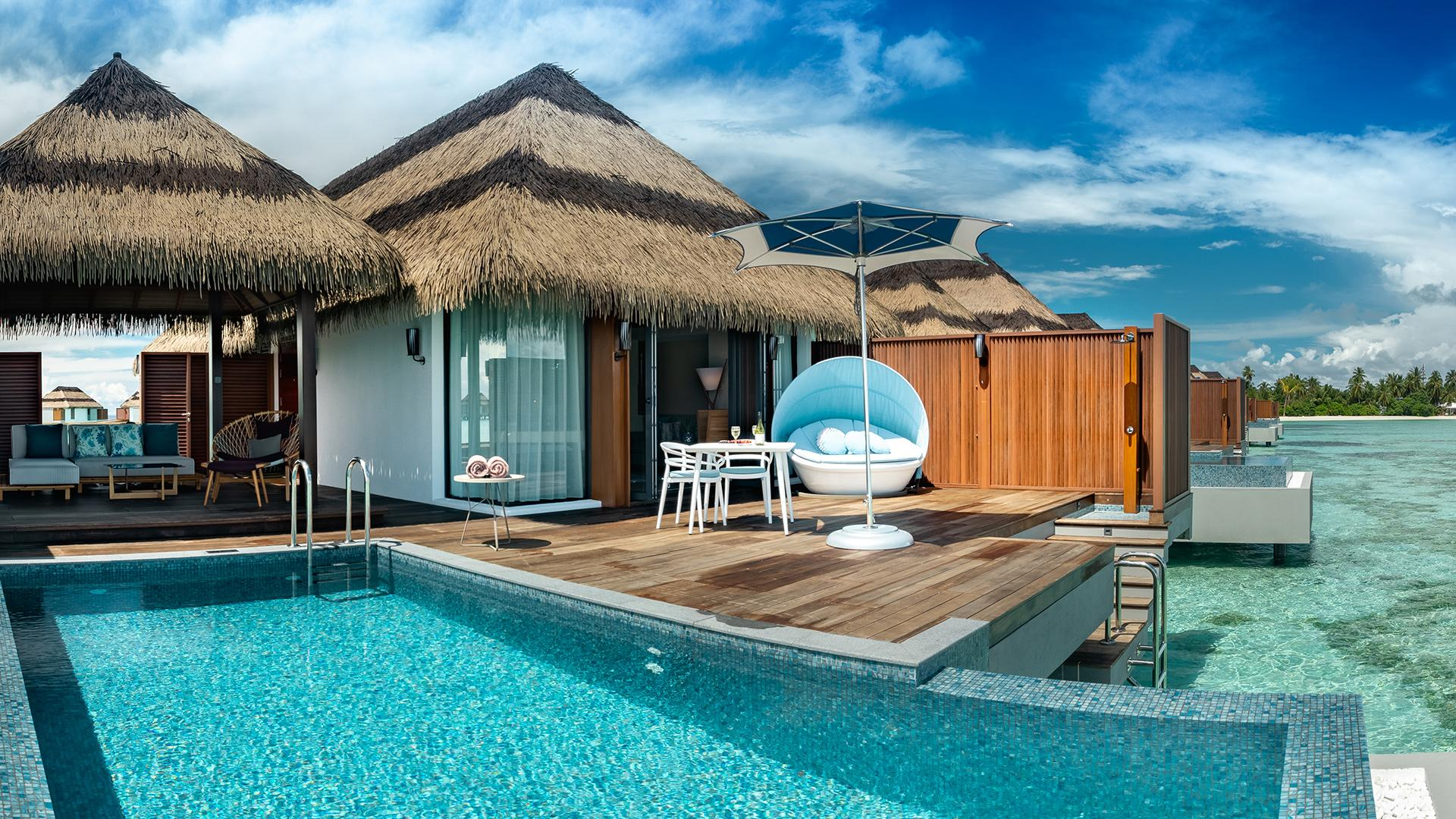 Ocean Pool Villa image 1 at Pullman Maldives Maamutaa Resort by null, Upper South Province, Maldives