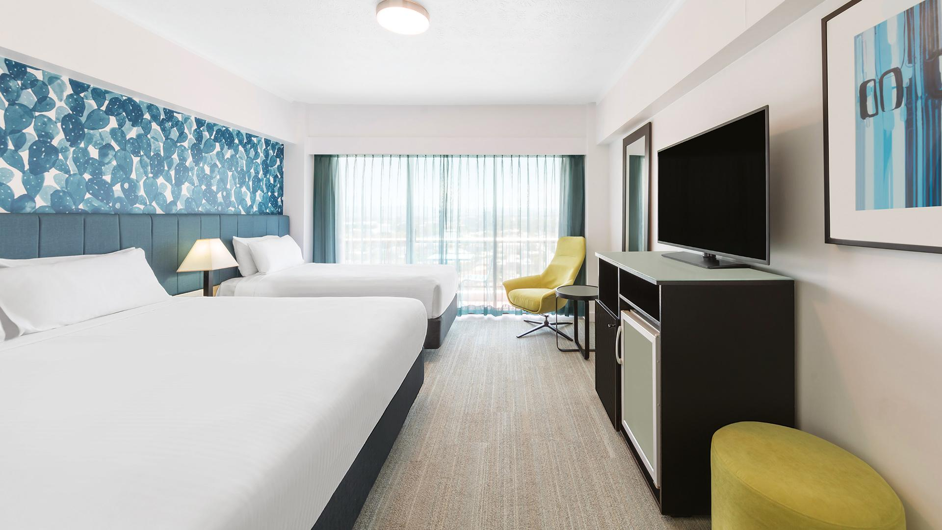 Oceanview Twin Room image 1 at Vibe Hotel Gold Coast by City of Gold Coast, Queensland, Australia
