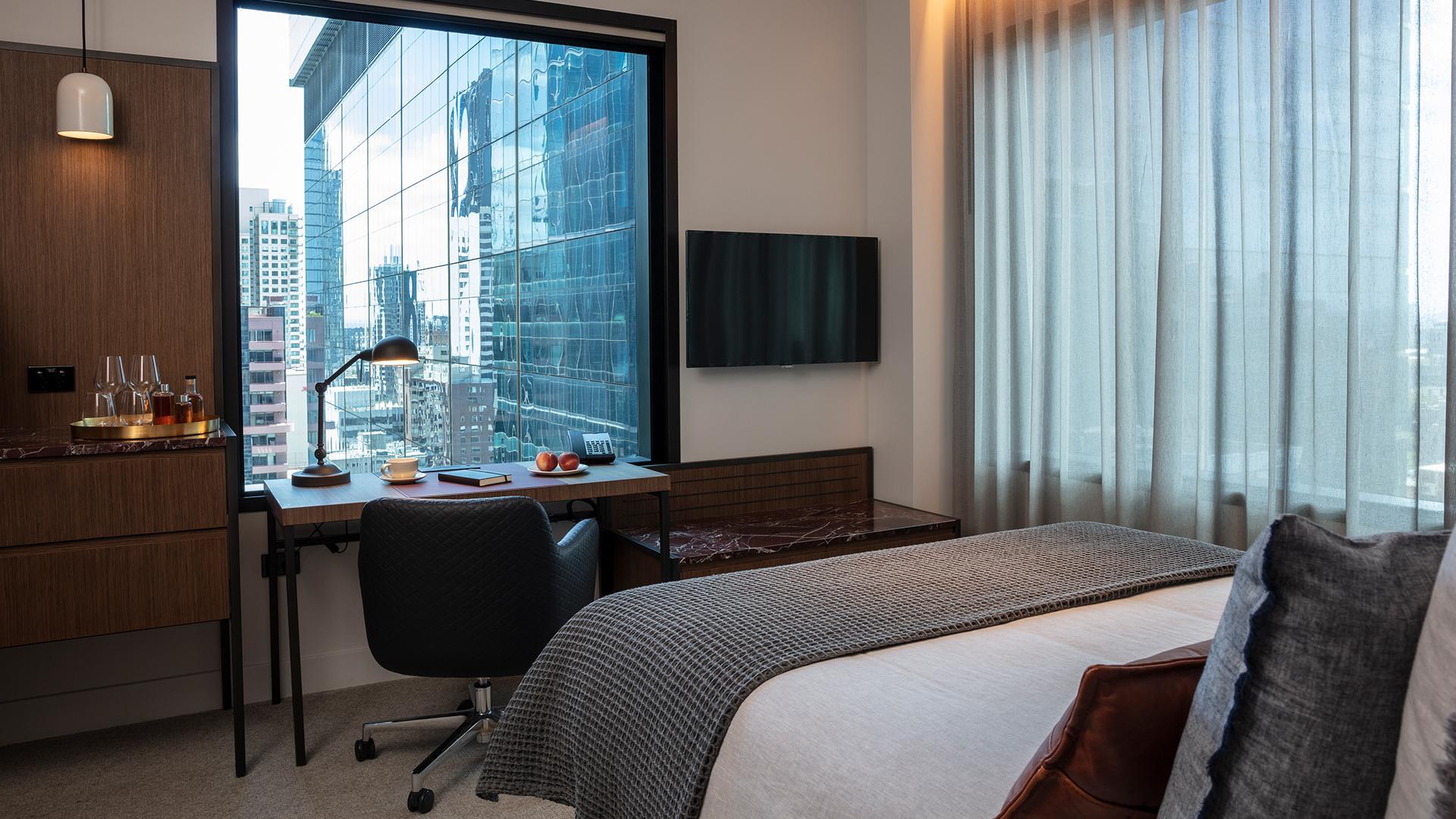 Next Queen Room image 1 at Next Hotel Melbourne by Melbourne City, Victoria, Australia