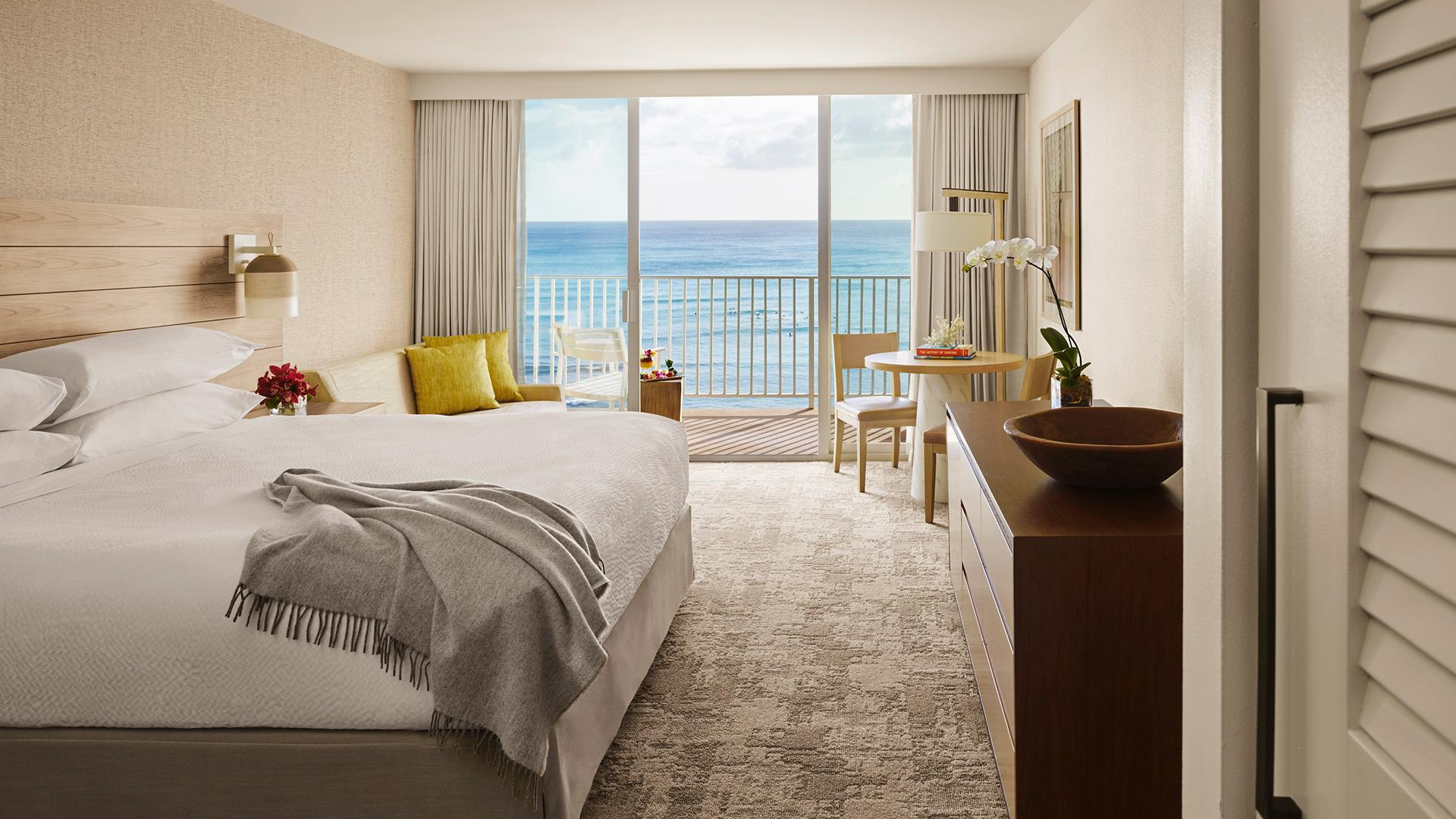 Premier Oceanfront King image 1 at 'Alohilani Resort Waikiki Beach by Honolulu County, Hawaii, United States