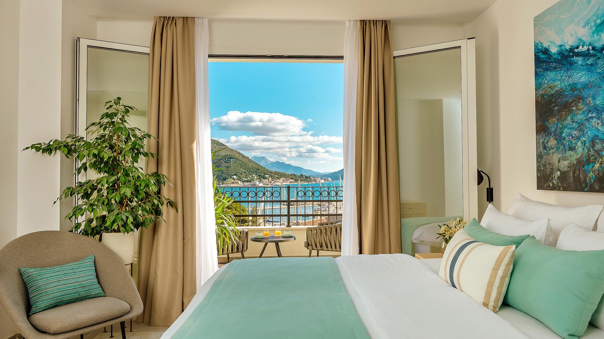 Deluxe Room Sea View image 1 at Lazure Marina & Hotel by null, Herceg Novi Municipality, Montenegro
