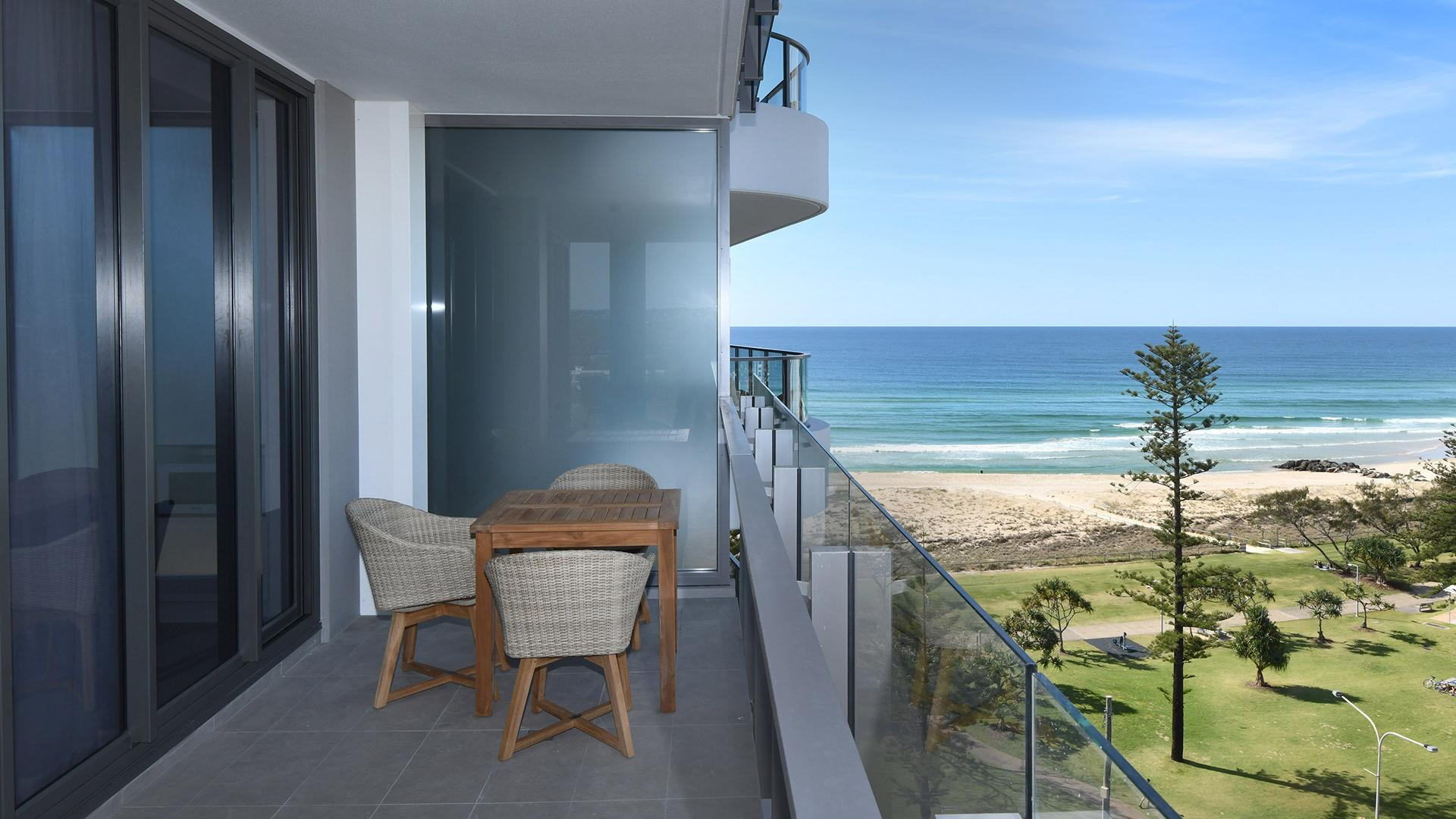 Two Bedroom Scenic Ocean View Apartment image 1 at X Kirra Apartments by City of Gold Coast, Queensland, Australia