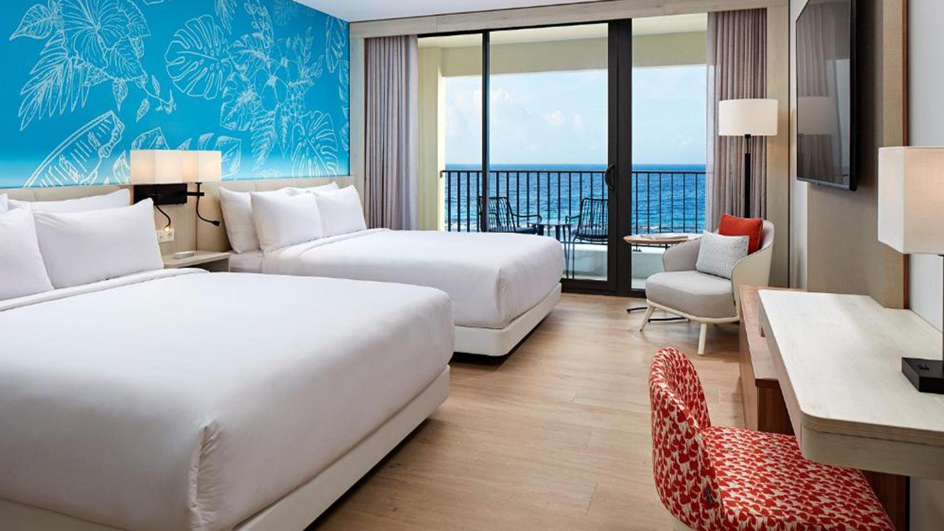 Ocean Front Queen Room image 1 at Curaçao Marriott Beach Resort by null, Curaçao, Curaçao