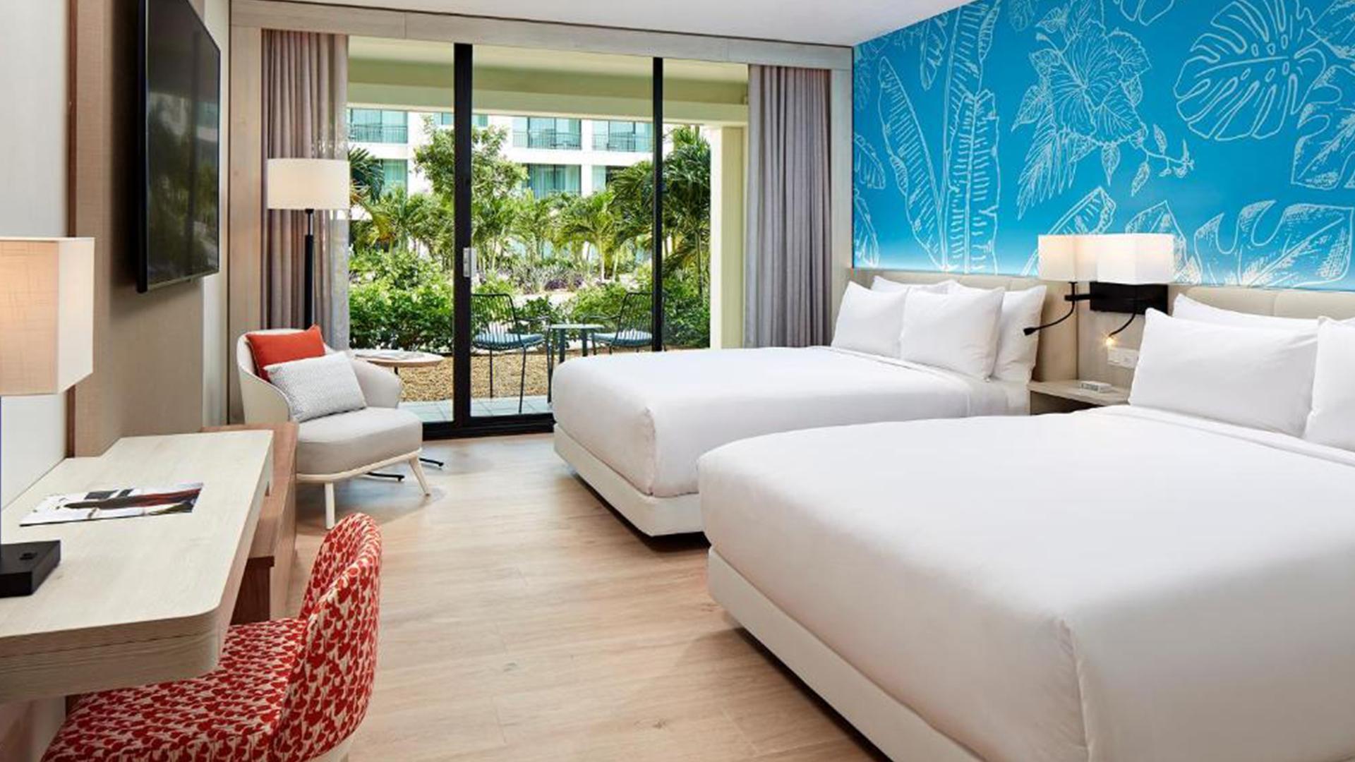Garden View Queen Room image 1 at Curaçao Marriott Beach Resort by null, Curaçao, Curaçao