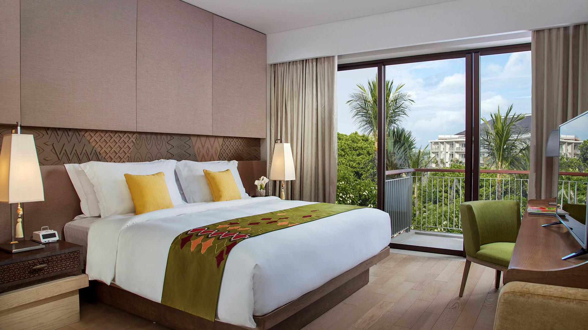 Classic Pool-View Room image 1 at Mövenpick Resort & Spa Jimbaran Bali by Kabupaten Badung, Bali, Indonesia