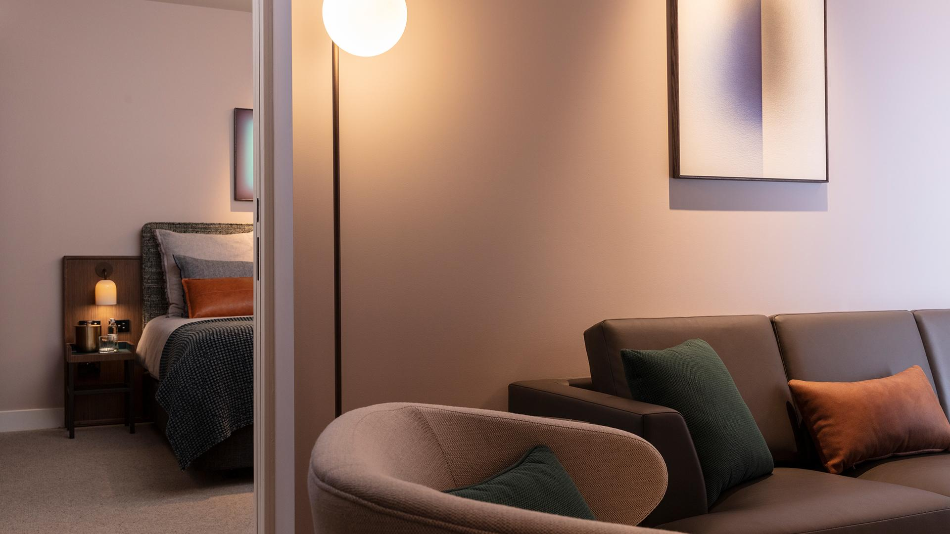 Club Two-Bedroom Suite image 1 at Next Hotel Melbourne by Melbourne City, Victoria, Australia