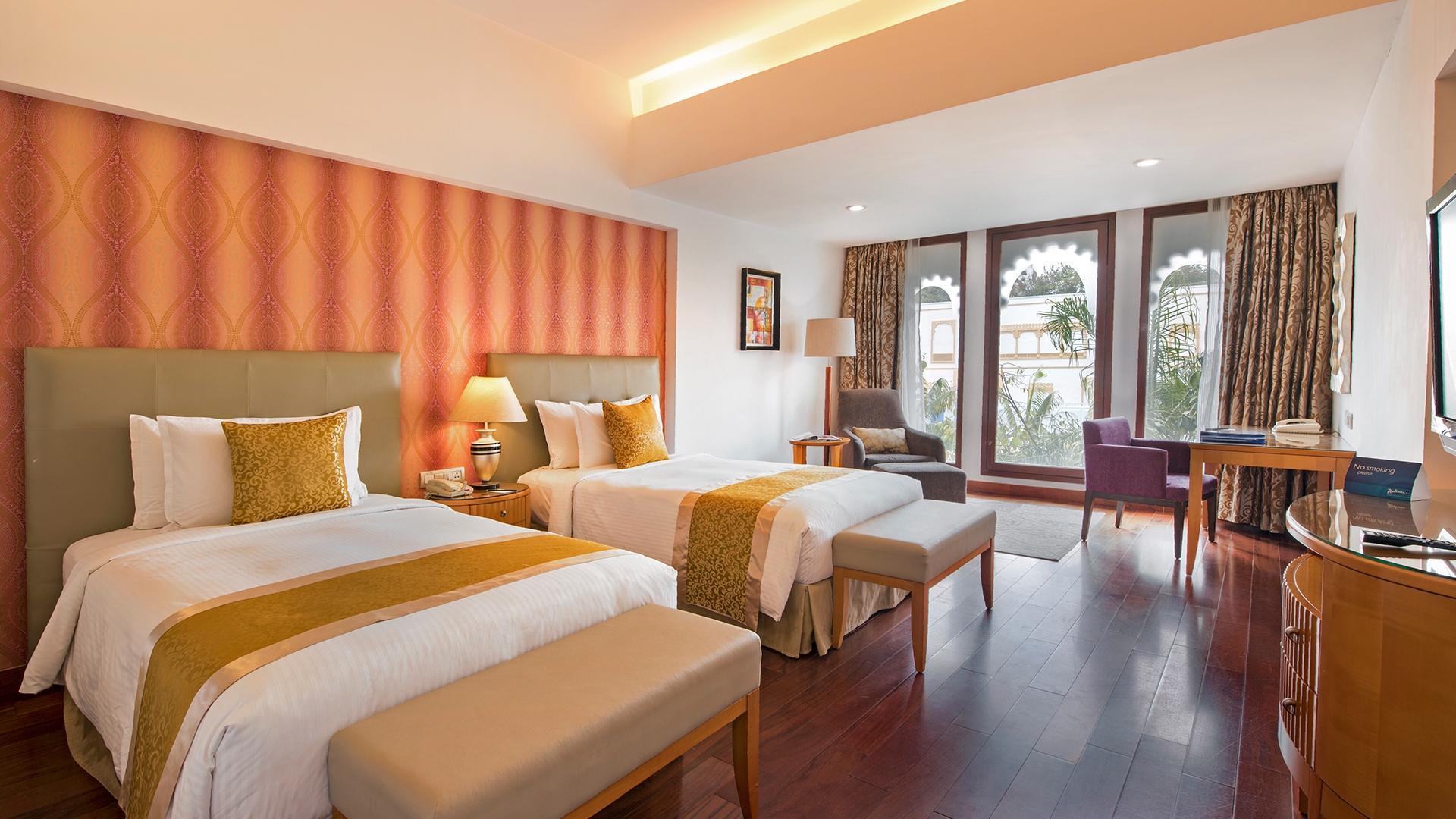 Superior Room image 1 at Radisson Blu Udaipur Palace Resort and Spa by Udaipur, Rajasthan, India