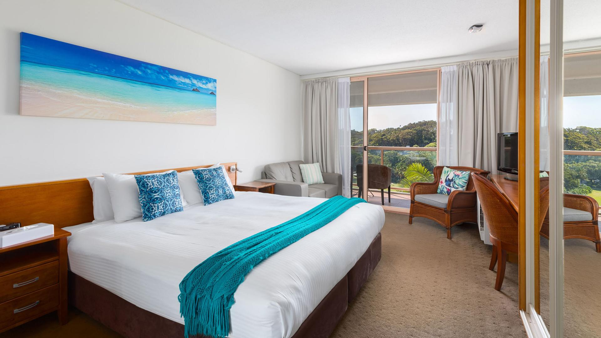 Deluxe Resort Room image 1 at Charlesworth Bay Beach Resort by Coffs Harbour City Council, New South Wales, Australia