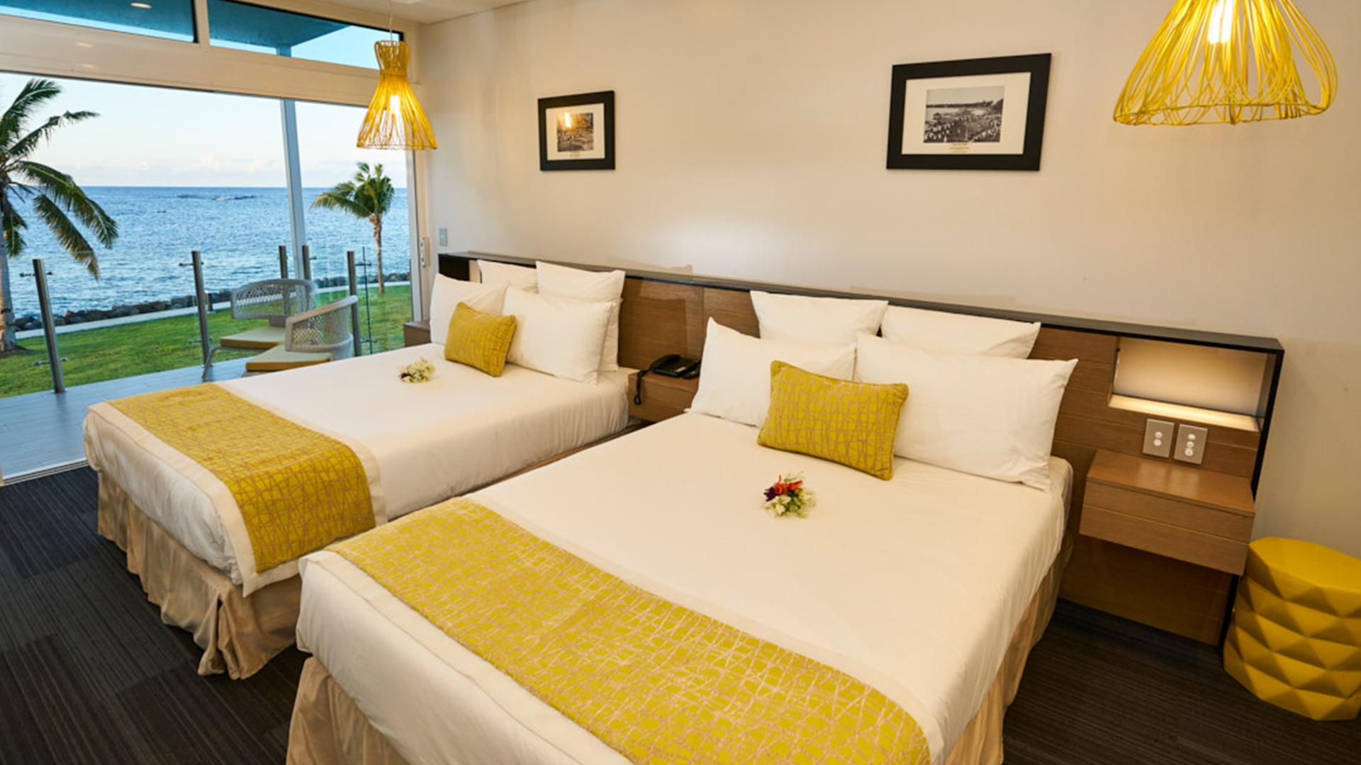 Oceanview Room Double image 1 at Taumeasina Island Resort by null, Tuamasaga, Samoa